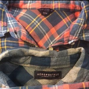 Bundle of 2 Aeropostale Flannels